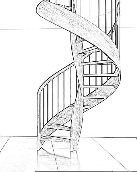 Esbais escaleras y barandillas de scar - Dimensiones escalera de caracol ...