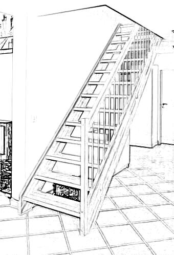 Esbais escaleras y barandillas de scar for Plano escalera madera