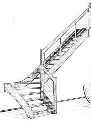 Esbais escaleras y barandillas de scar for Escalera en l